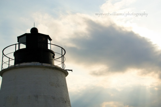 Lighthouse with whispy clouds
