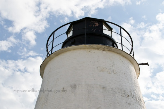 Looking up at lighthouse